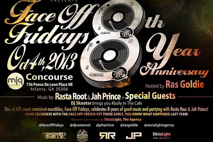 Picture of Face Off Friday's 8 year Anniversary Flyer