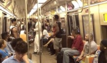 Broadway Cast of The Lion King do an impromptu singing performance on NYC Subway