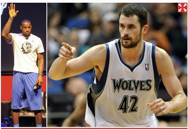picture of kevin love - lebron james