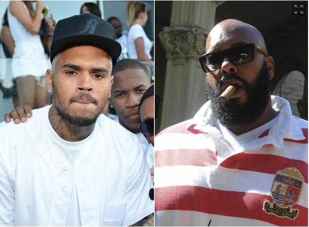 picture of chris brown and suge knight