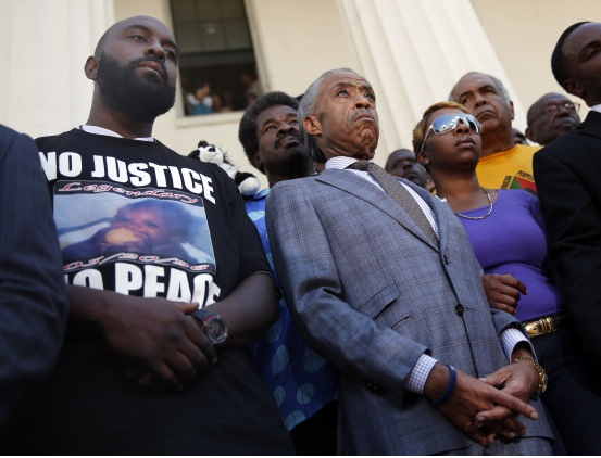 Picture of michael brown sr. - rev. al sharpton