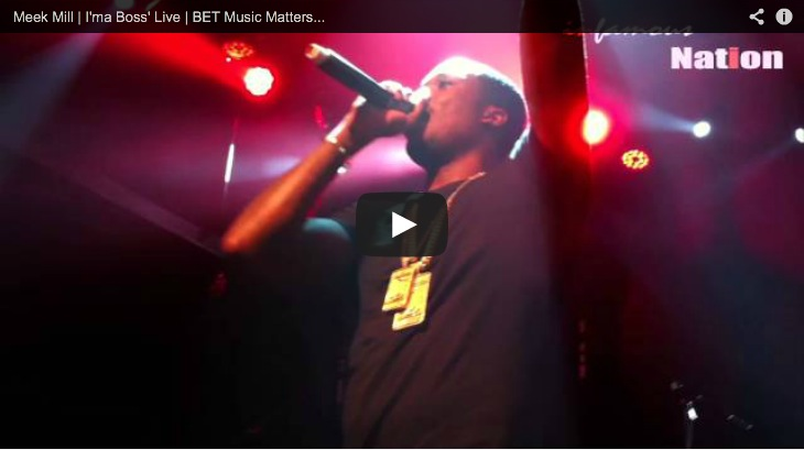 Picture of Meek Mill performing I'ma Boss' Live at BET Music Matters A3C Hip Hop Festival