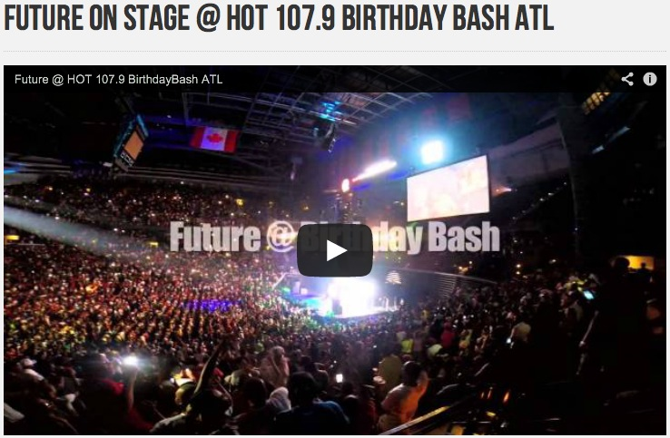 picture of crowd watching future perform @ Hot 107.9 birthday bash in atlanta