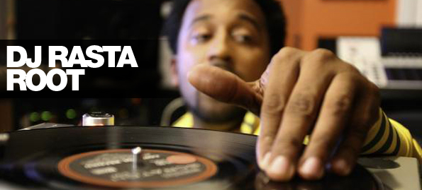 picture of dj rasta root - hand on turntable