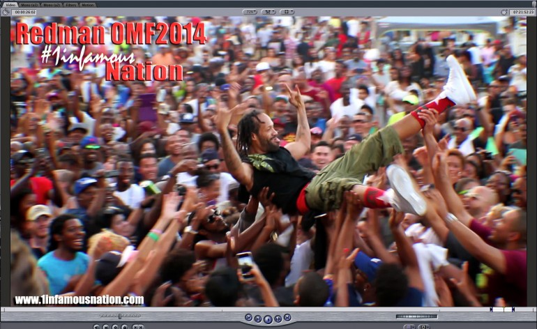 picture of redman crowd surfin at One Music Fest 2014 in atlanta