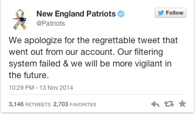 Reply to new england patriots racist tweet