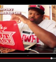 DJ Cutmaster Swiff of Outkast at his desk