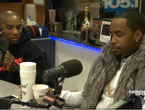 picture of Safari and Charlamagne on the Breakfast Club