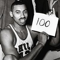 Picture of wilt Chamberlain 100 point game